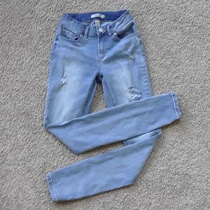 Refuge Distressed Skinny Blue Jeans Size 0